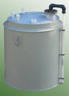 Plastová nádrž na kyselinu fluorovodíkovou HF