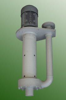 Plastic pump for polishing bath