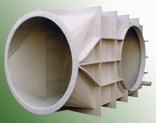 Plastové koleno atypické vzduchotechnické