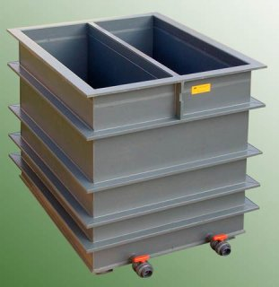 Plastová vana galvanizační dvojitá