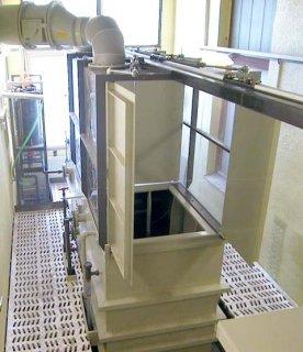 Linka pro chemické leptání skla
