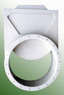 Plastové ruční šoupátko vzduchotechnické