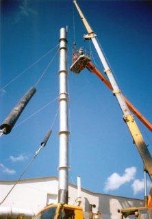 Montáž plastového vzduchotechnického komínu