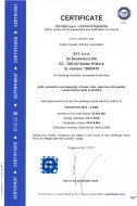 Certifikát dle ČSN EN ISO 3834-2:2006